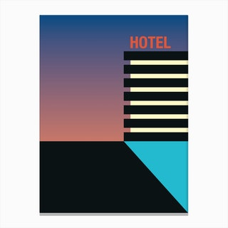 Hotel Nightfall Canvas Print