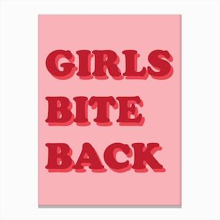 Girls Bite Back Canvas Print