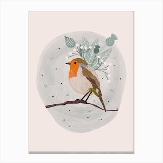 Sweet Robin Canvas Print