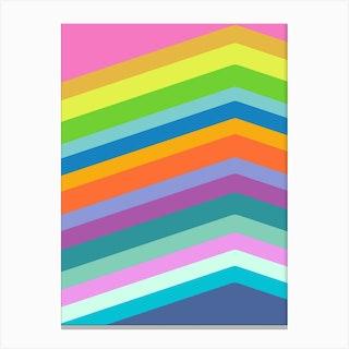 Bright Diagonals 2 Canvas Print