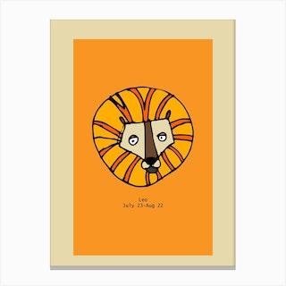 Retro Zodiac Leo Rectangular Canvas Print