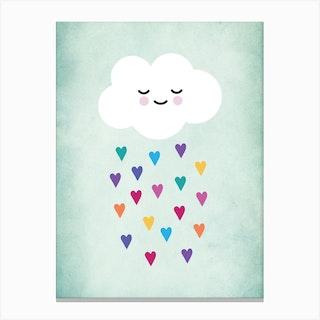 Sleepy Cloud Nursery Canvas Print