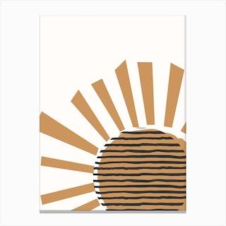 Shining Sun Canvas Print