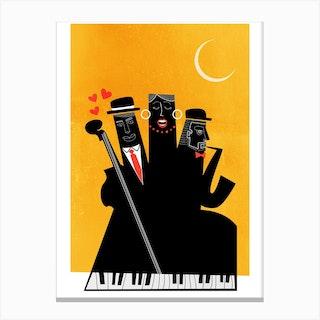 Casablanca Jazz Yellow Canvas Print