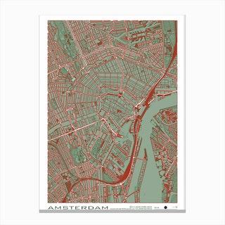 Amsterdam Pop Canvas Print