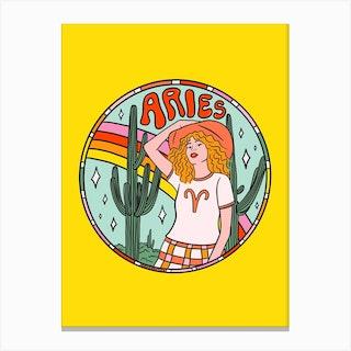 Aries Cowgirl Canvas Print