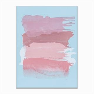 Pink Brush Strokes Canvas Print