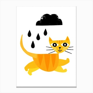 Jumping Cat Canvas Print