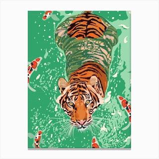 Tiger Lake Canvas Print