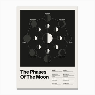 The Phases Of The Moon Canvas Print