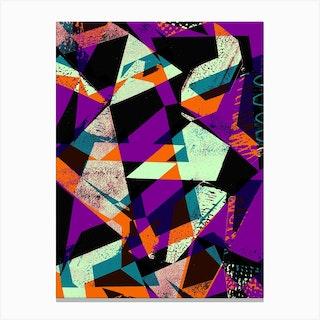 Purple And Orange Geo Canvas Print