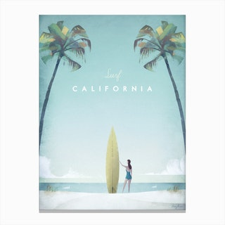 Surf California Canvas Print