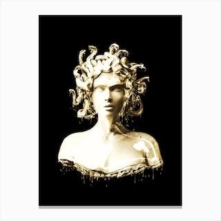 Gold Medusa Canvas Print
