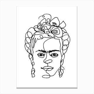 Frida Made Me Canvas Print