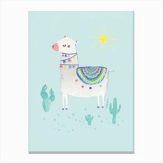 Sunshine Llama Canvas Print