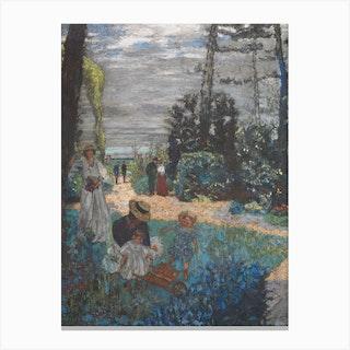 La Terrasse At Vasouy The Garden, Edouard Vuillard Canvas Print