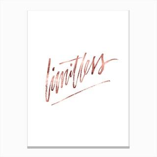 Limitless Rose Gold Canvas Print
