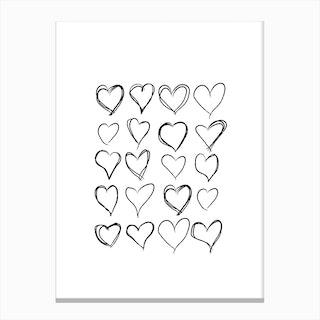 Lovev Hearts Canvas Print
