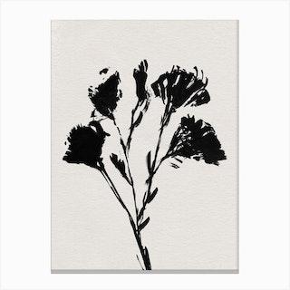 Mono Flower 1 Canvas Print