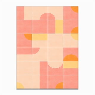 Retro Tiles 02 Canvas Print