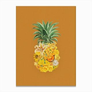 Pineapple Yellow Canvas Print