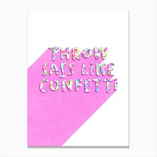 Sassy Confetti Canvas Print