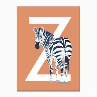 Z Zebra Canvas Print