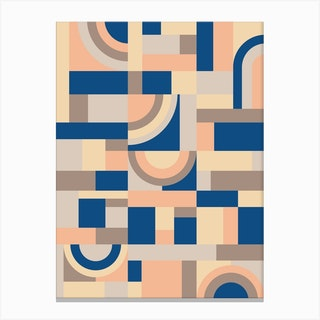 Soft And Blue Blocks Canvas Print