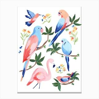 Jungle Birds 2 Canvas Print