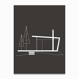 Alpine Dwelling Black 7 Canvas Print