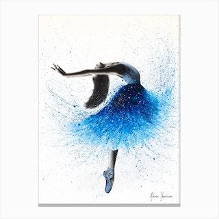 Crystal Fountain Dance New Canvas Print