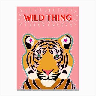Tiger Wild Thing Canvas Print