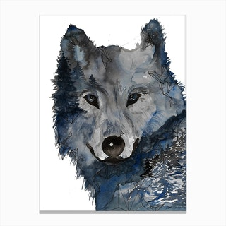 Night Wolf Canvas Print