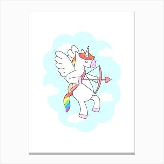Unicorn Valentine Canvas Print