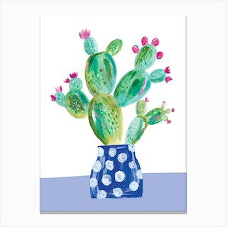 Painted Prickly Pear Canvas Print