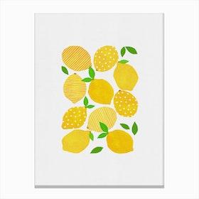 Lemon Crowd Canvas Print
