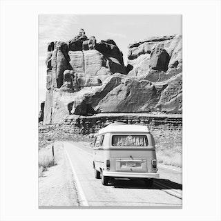 Road Trip BW Canvas Print