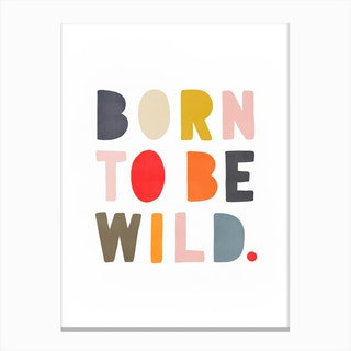 Born To Be Wild  Muted Rainbow Colours Canvas Print
