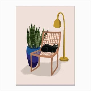 Chair Cat Canvas Print