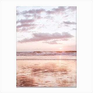 Pink Beach Canvas Print
