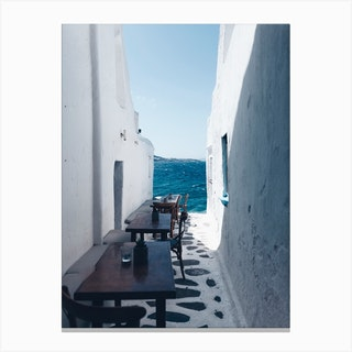 Small Streets Of Mykonos Canvas Print