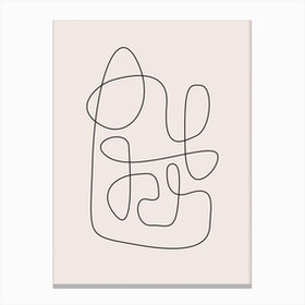 Abstract Line Canvas Print