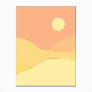 Yellow Mountains Minimal Canvas Print