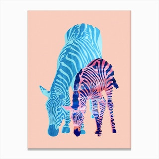 Striped Love Canvas Print