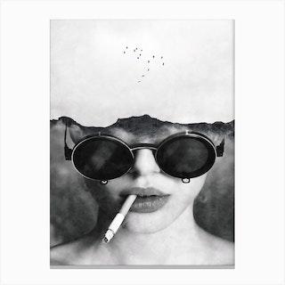 Dreams And Cigarettes Canvas Print