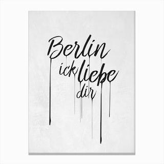 Berlin Ick liebe dir Canvas Print