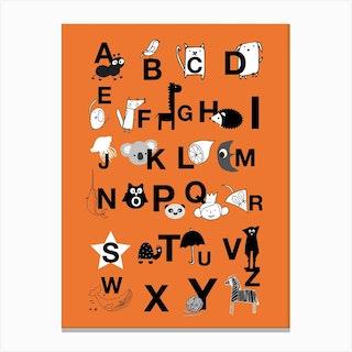 Abc Orange Canvas Print