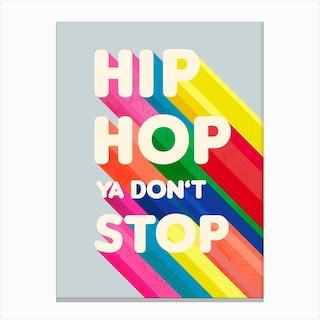 Hip Hop Typography Canvas Print