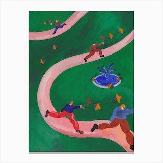 Chasing Birds Canvas Print