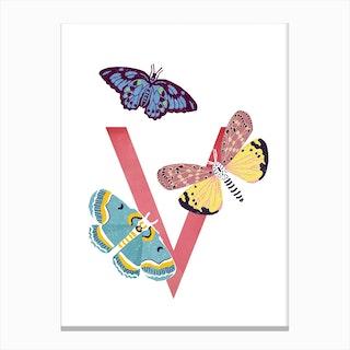 V Vlinder Canvas Print